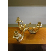 Candlestick gold with 3 candle holders
