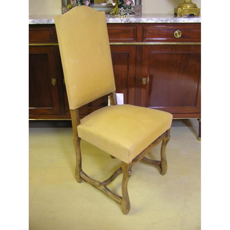 chaise style louis xiii os de mouton sur moinat sa antiquit s d coration. Black Bedroom Furniture Sets. Home Design Ideas