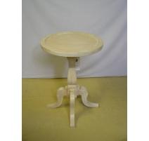 Pedestal table pine, brushed