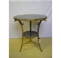 """Pedestal table in the """"Eagle-headed"""" in gilded bronze,"""