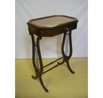 Small table-vitrine in mahogany with