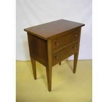 Bedside cabinet in walnut with 2 drawers