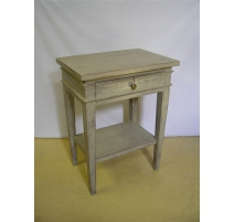 Bedside Directoire style painted, 1-drawer