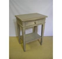 Chevet style Directoire peint, 1 tiroir