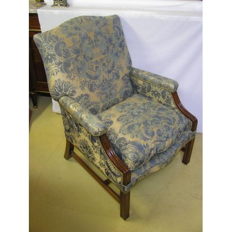 fauteuil anglais en acajou coussin sur moinat sa. Black Bedroom Furniture Sets. Home Design Ideas