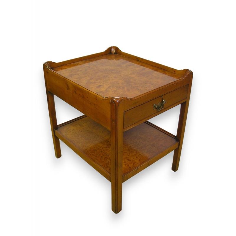 Table de chevet en if sur moinat sa antiquit s d coration - Table de chevet en anglais ...