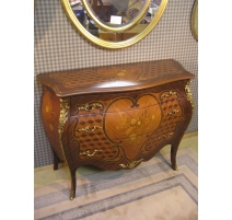 Commode style Louis XV en bois de rose