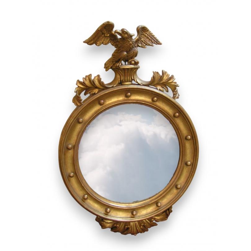Miroir avec glace biseaut e en bois dor sur moinat sa for Glace miroir