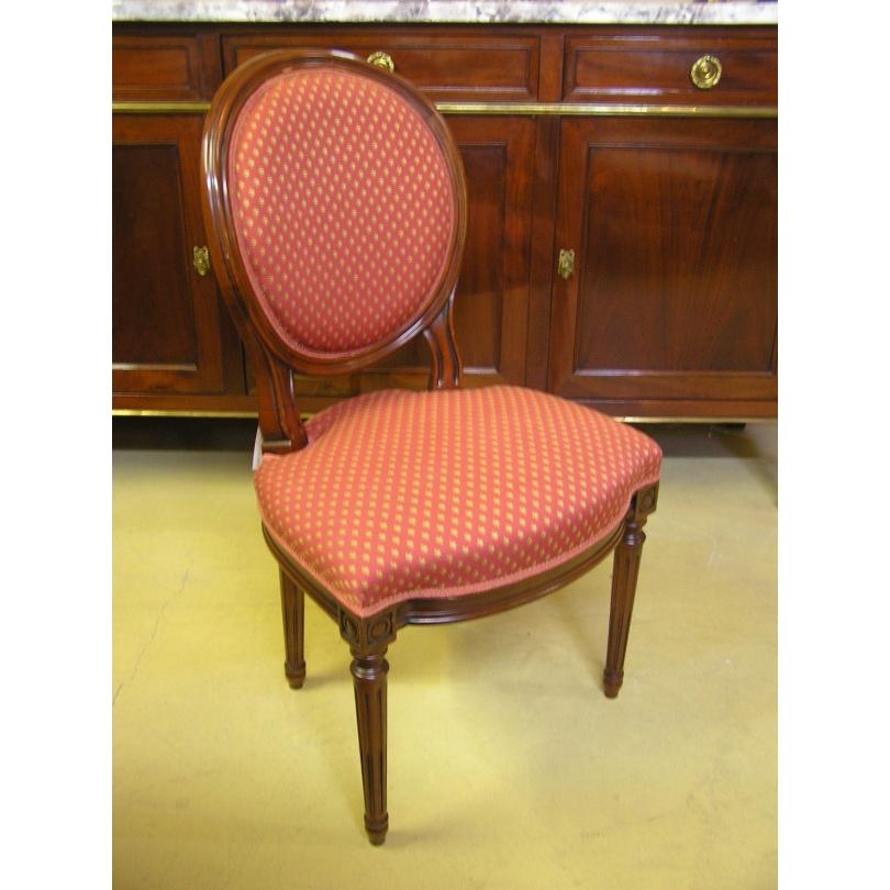 chaise style louis xvi garnie sur moinat sa antiquit s d coration. Black Bedroom Furniture Sets. Home Design Ideas