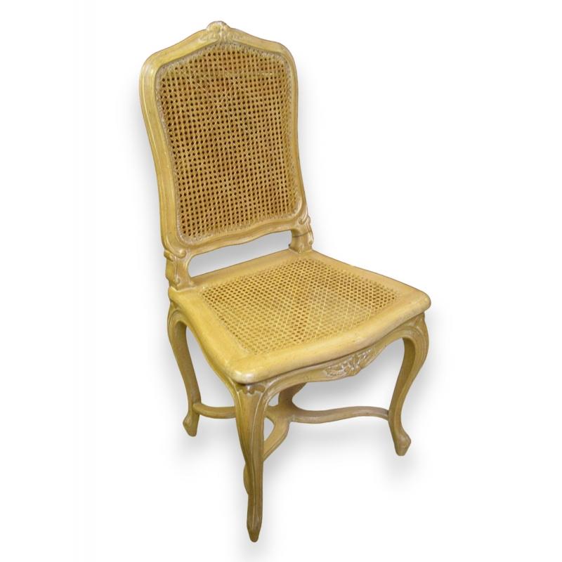 chaise cann e style r gence mod le sur moinat sa antiquit s d coration. Black Bedroom Furniture Sets. Home Design Ideas
