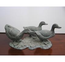 Set de 3 petits canards en bronze