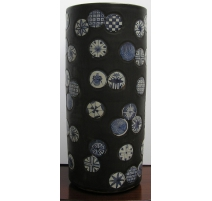 Umbrella holder, porcelain black and