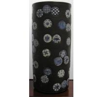 Umbrella holder, porcelain black and