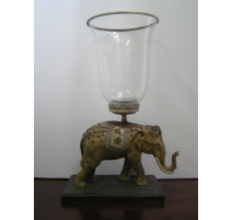 "Candle holder ""Elephant"" in bronze colour"