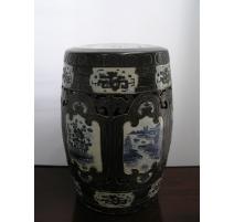 Tabouret chinois, décor Médaillons, en