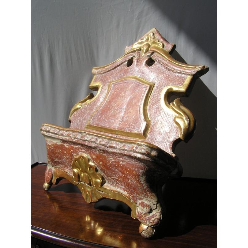 Petit lutrin de table Baroque doré