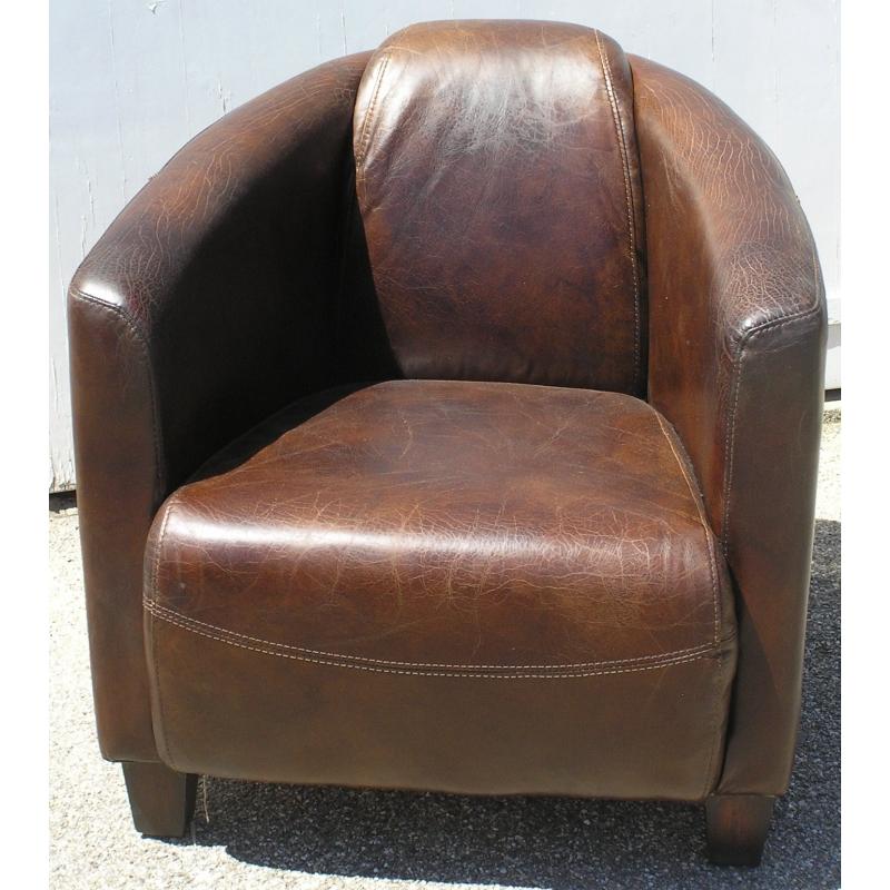 Fauteuil Club, modèle Silverstone, en cuir brun - Moinat SA ...
