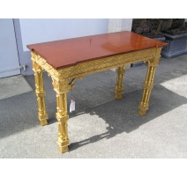 Table-console Charles XIII, dessus faux