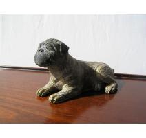 Bronze chien assis