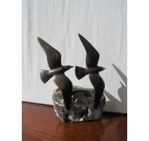 Bronze  2 Mouettes  de Charles REUSSNER