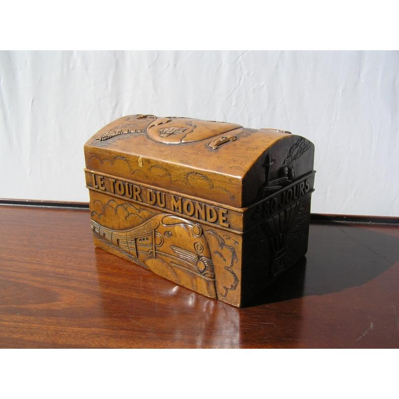 coffre tour du monde en pierre sur moinat sa antiquit s d coration. Black Bedroom Furniture Sets. Home Design Ideas