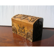 "Box ""The Emperor"" in carved stone"