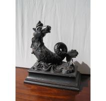 "Sculpture ""Horse marine"" wood"