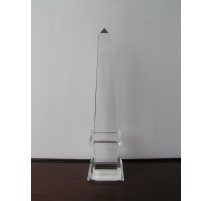 Obelisk, clear glass