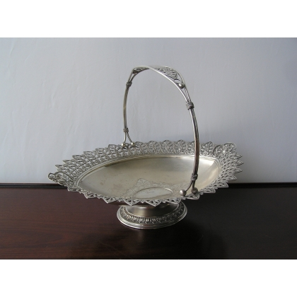 Basket with handle in silver, Germany
