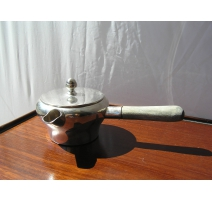 Cassolette en métal argenté