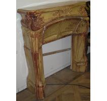 Fireplace Art Nouveau yellow