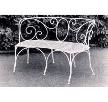 Canapé cintré en fer forgé MALMAISON blanc