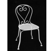 Chaise en fer forgé VINCENNES blanc