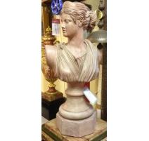 "Bust of ""woman"" in terracotta"