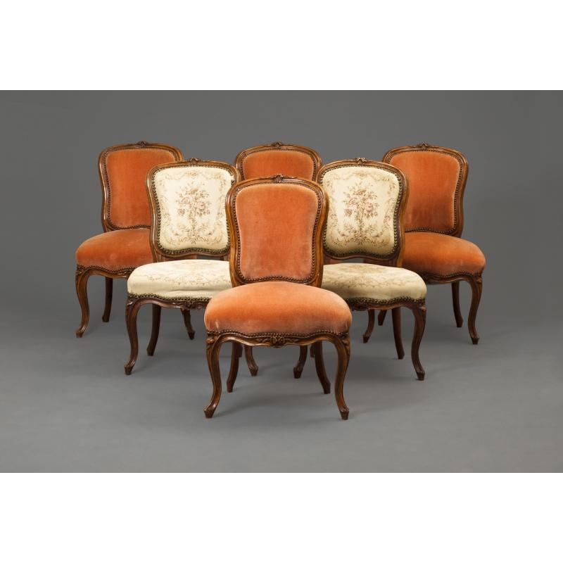 suite de 6 chaises louis xv sur moinat sa antiquit s. Black Bedroom Furniture Sets. Home Design Ideas