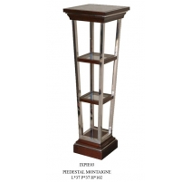 """Pedestal """"Montaigne"""" in stainless steel, wood and"""