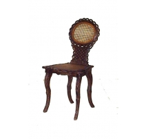 Stuhl von Brienz. Lehne und sitz cannés.