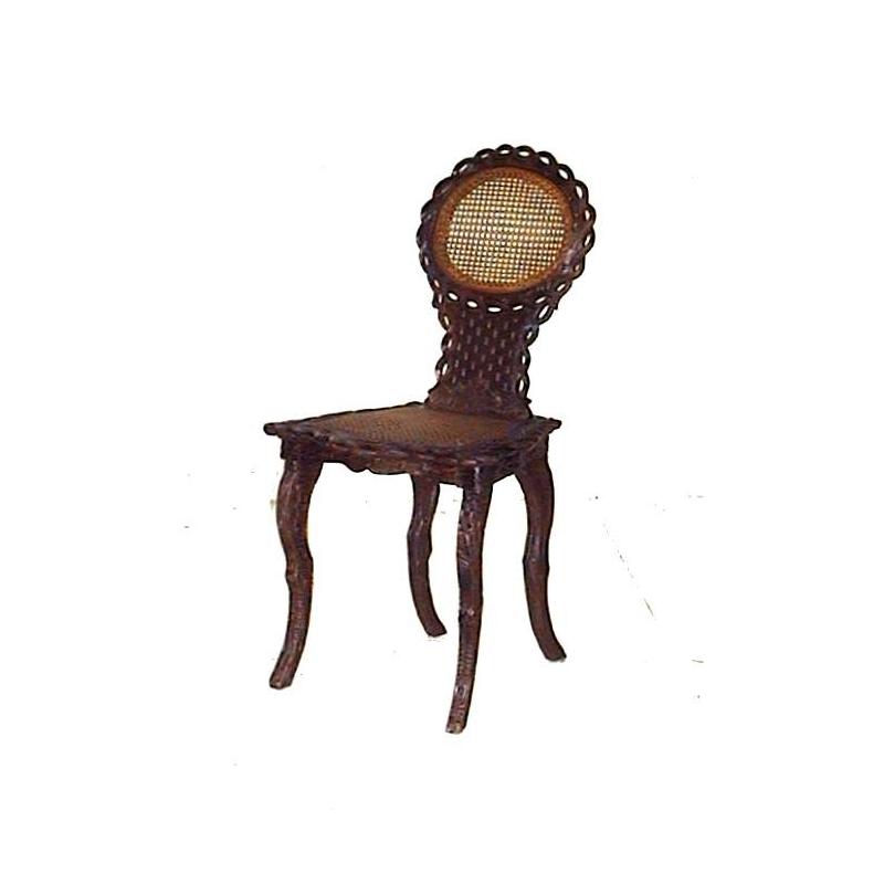 Chaise de brienz dossier et assise cann s sur moinat sa for Chaise 19eme siecle