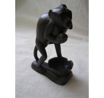 """Sculpture en ébène """"Singe"""""""