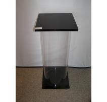 Column in plexi transparent base, and