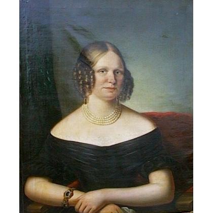 """Portrait """"Dame"""", non signé."""