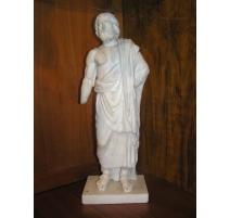 Statue en marbre blanc, tête d'époque
