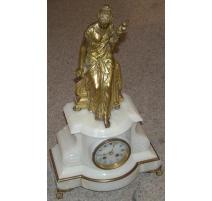 "Pendule ""La Fileuse"" en bronze doré,"