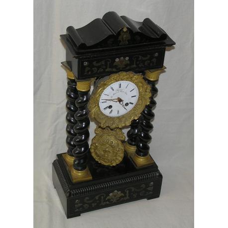 Pendule Napoleon Iii Bois Noir Et Sur Moinat Sa Antiquites Decoration