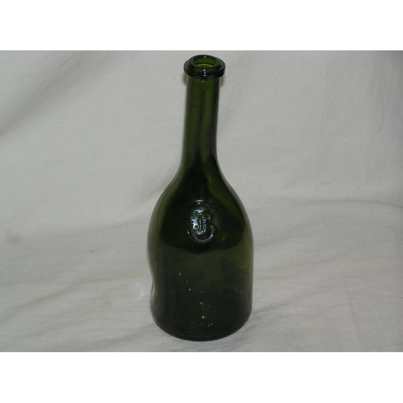 Bouteille de vin en verre coloris vert moinat sa antiquit s d coration - Diametre bouteille de vin ...