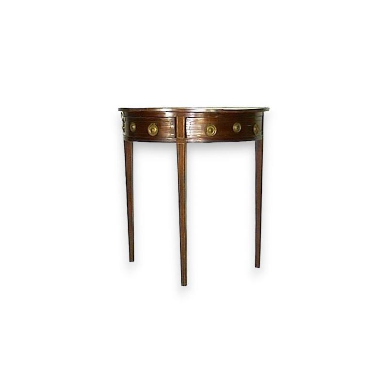 console demi lune avec pieds fuseaux sur moinat sa antiquit s d coration. Black Bedroom Furniture Sets. Home Design Ideas
