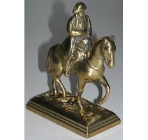 """Statuette """"Napoléon à cheval"""" en laiton"""