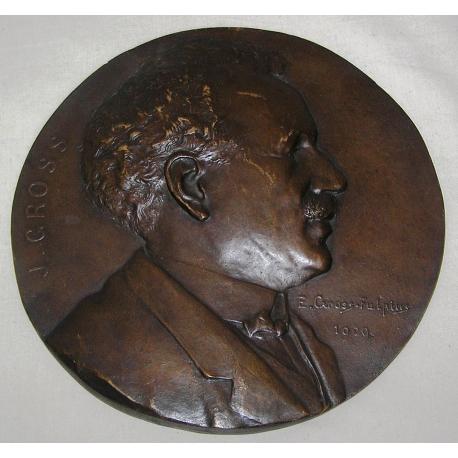Médaille En Bronze Portrait De Mr J Gross Moinat Sa Antiquités Décoration
