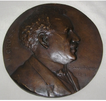 Médaille en bronze, Portrait de Mr. J. Gross