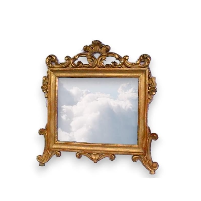 Miroir baroque rectangulaire sculpt sur moinat sa for Miroir rectangulaire baroque